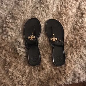 Tory Burch Shoes - Tory Burch Black Sandals (NWOT - LIKE NEW)